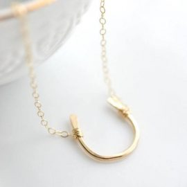 EQl.CO/ Equestrian Horseshoe Charm Necklace