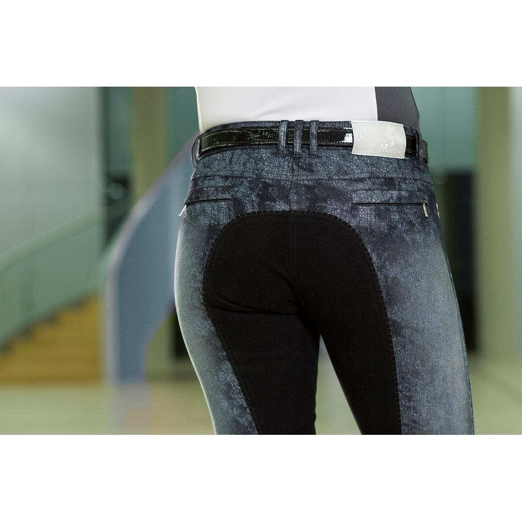 HKM LADIES CAVALLINO MARINO ARCTIC PRINT FULL SEAT BREECH