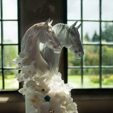 DECOR: Equestrian Wedding Cake Topper