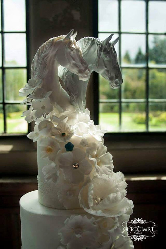 equestrian wedding cake topper