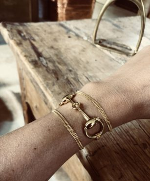 THE SHOP: H.M Snaffle Bit Wrap Bracelet